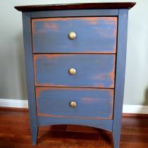 Blue Side Table Chalk Paint Makevoer