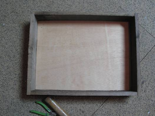 Pallet wood and fabric tray diy-003
