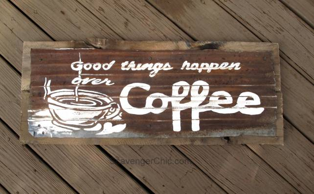 DIY Coffee Sign
