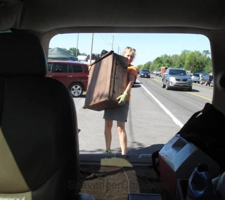 Route 11 Yard Crawl 2016-wooden chicken incubator