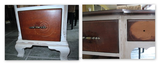 Vintage Writing Desk, Chalk Paint makeover-004