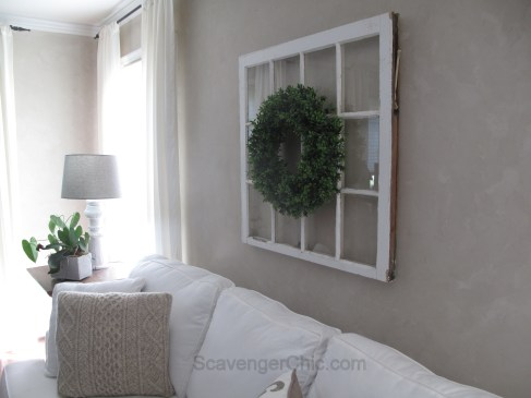 DIY Boxwood Wreath and Vintage Window-010