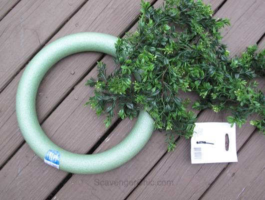 DIY Boxwood Wreath and Vintage Window