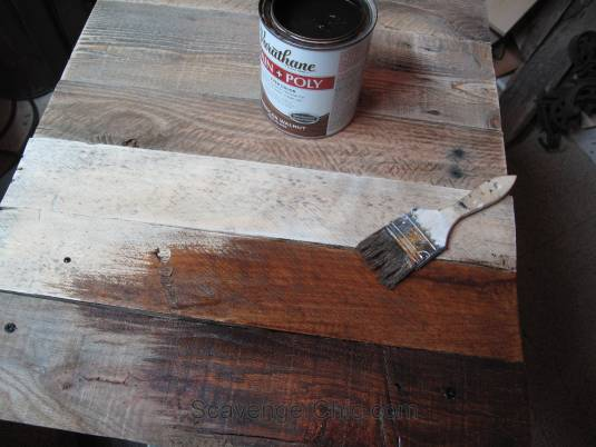 Wicker and Pallet Wood, replacing a glass top on a wicker table