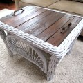 Wicker and Pallet Wood Table