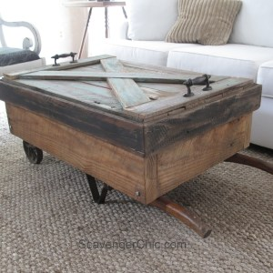 Hand Truck Coffee Table