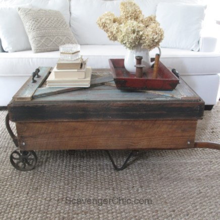 tep by Step Instructions for an Upcycled Hand Cart Coffee Table