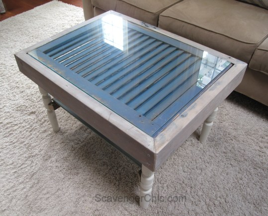 Upcycled shutters, spindles and reclaimed wood Coffee Table