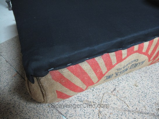 Reccyled Feed Bag, Grain Sack Foot Stool