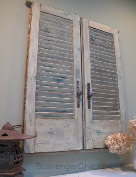 Repurposed Vintage Shutter Mirror, Shutter Ideas
