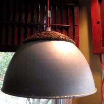 Flea Market Finds, Recycled Pendant Light