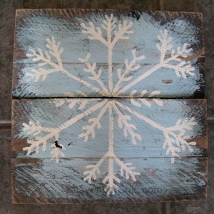 Painted Pallet Wood Snowflakes