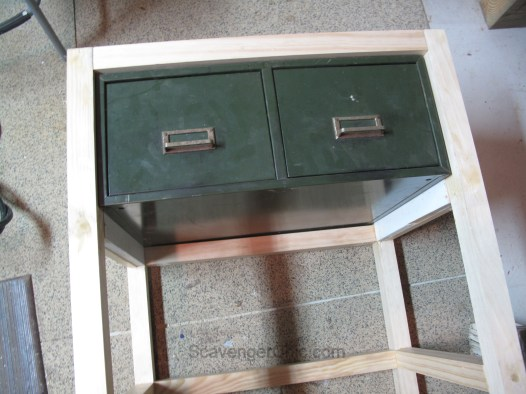 Upcycled Metal File Cabinet, Kitchen Bar Cart