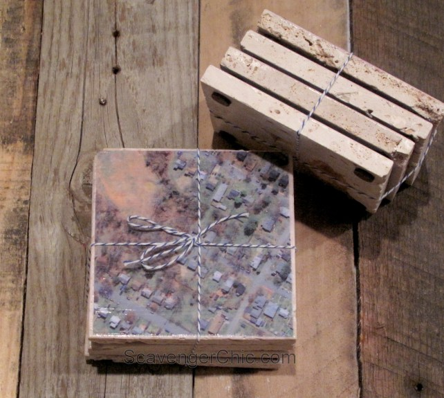 Personalized Map Coasters, diy gifts