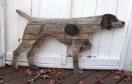German Short Haired Pointer Pallet Wood Dog