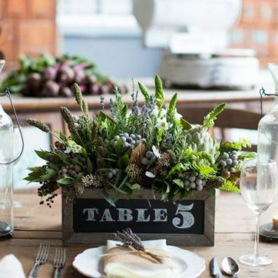 Table Number on a Pallet Wood Box