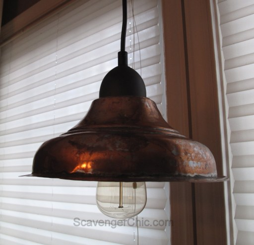 DIY Copper Pendant Light