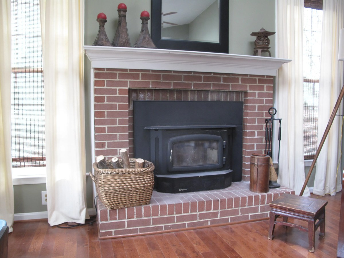 Painting Ugly Brick Fireplace Scavenger Chic