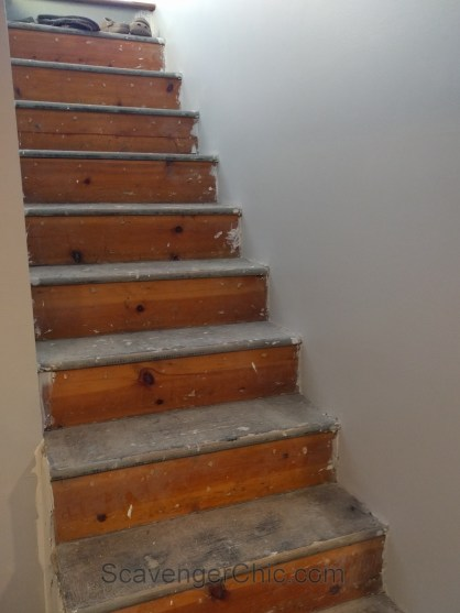 New treads for old stairs, remodel reface and refinish old stairs-008