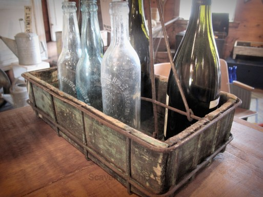 Recycled Metal tote box, wine carrier