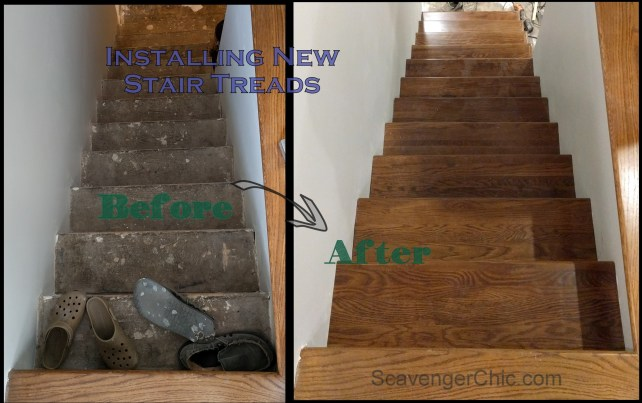 Refacing Stair Treads over existing stairs DIY-002