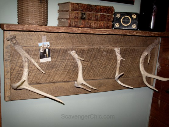 Upcycled Deer Antler Clothes hanger