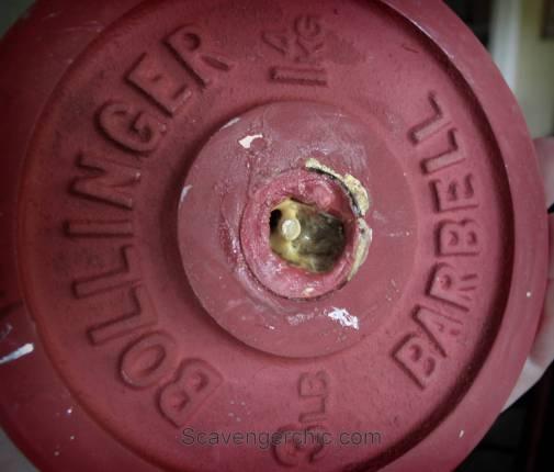 DIY Receipt Spike, Receipt Holder, upcycled weight