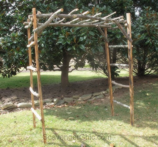 DIY Wedding Stick Arbor