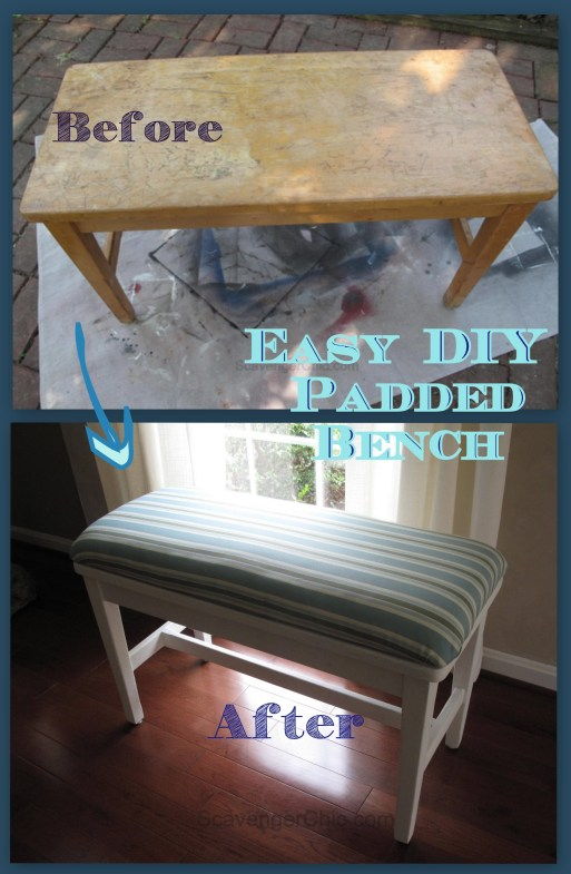 Easy DIY Padded Seat Cover