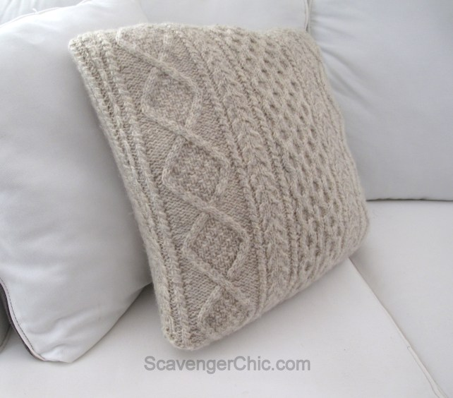 Fathers Day Sweater Pillow diy