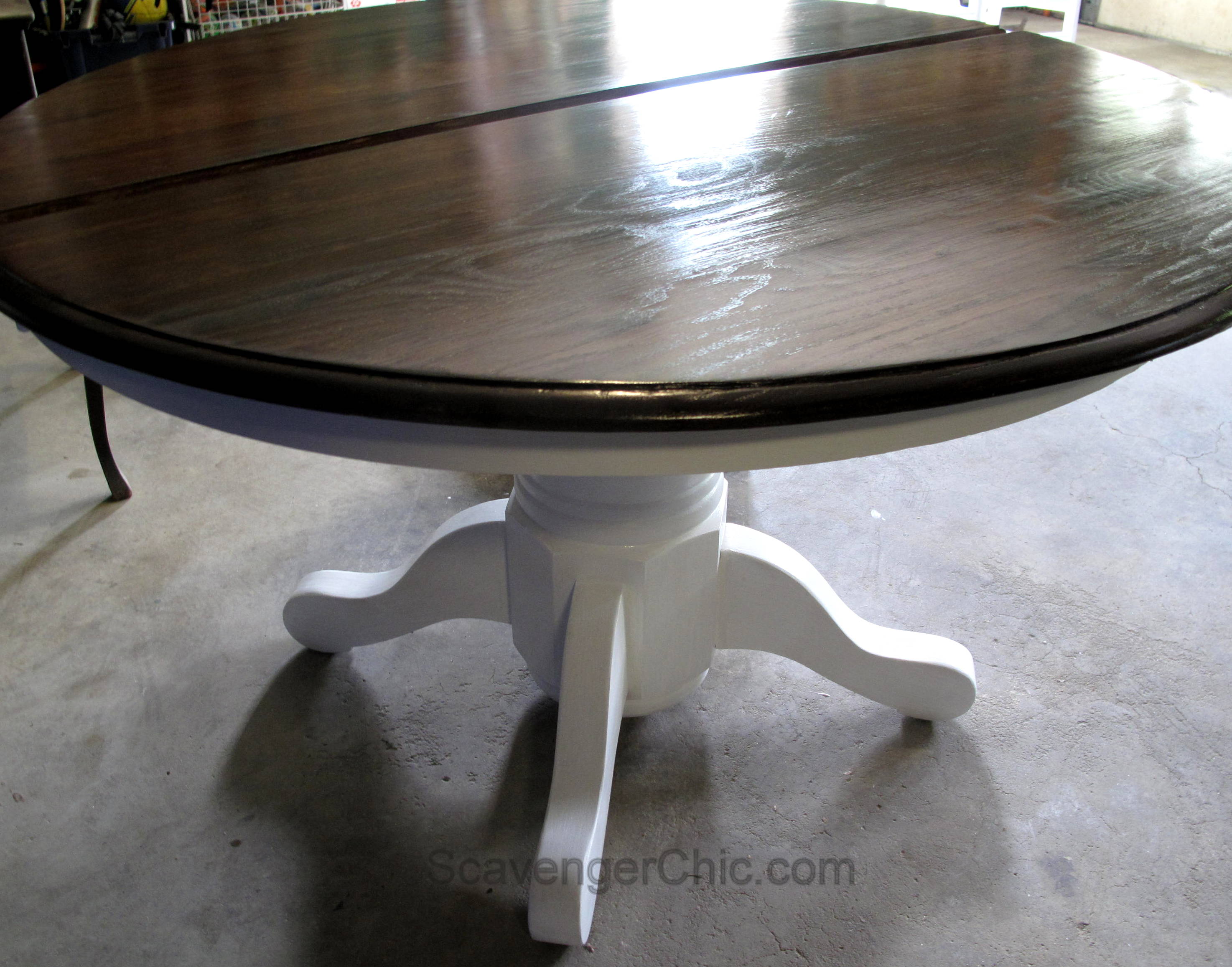 Pedestal Table and Chairs Makeover Scavenger Chic