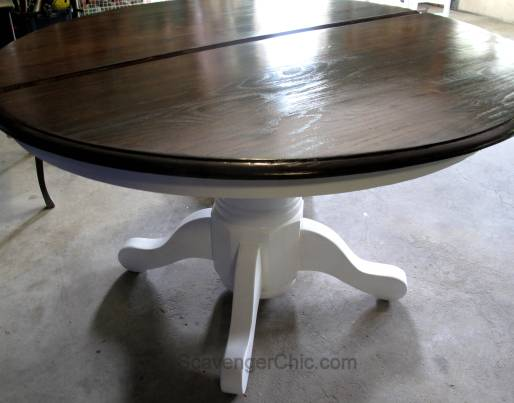 Refinishing White Pedestal Table and Ladder Back Chairs