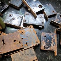 Upcycled Mortise Locks Wedding Table Numbers