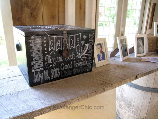 Chalkboard Style Wedding Card Box DIY