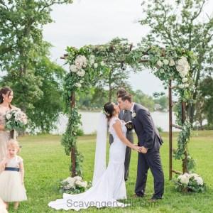 DIY Wedding Stick Arbor