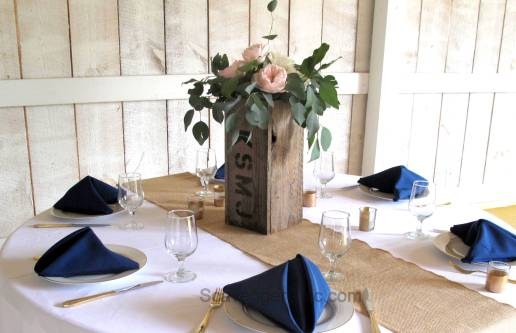 Pallet Wood Wedding Centerpiece