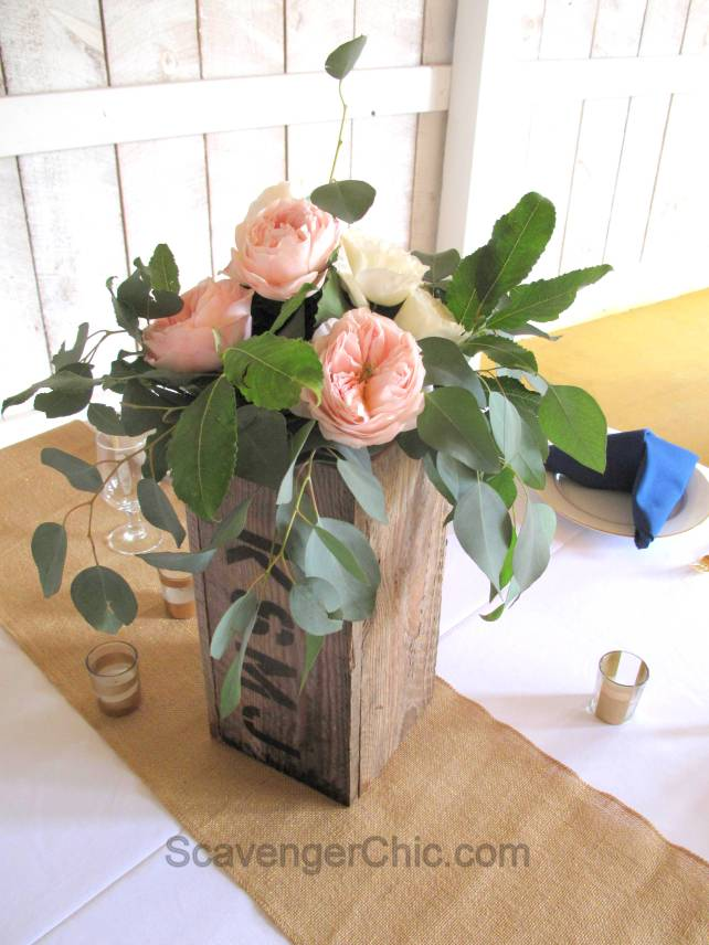 Pallet Wood Wedding Centerpiece Scavenger Chic