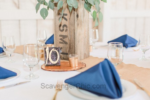 Upcycled Mortise Locks Wedding Table Number-001