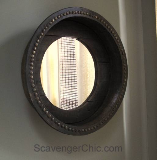 Upcycled Serving Tray Mirror, DIY