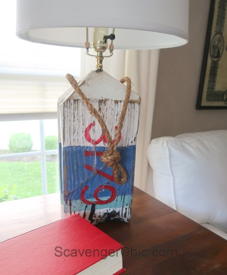 DIY Driftwood Buoy Lamp