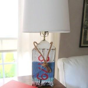 Driftwood Buoy Lamp