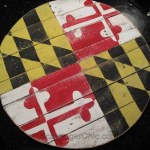 Pallet Wood Maryland Flag