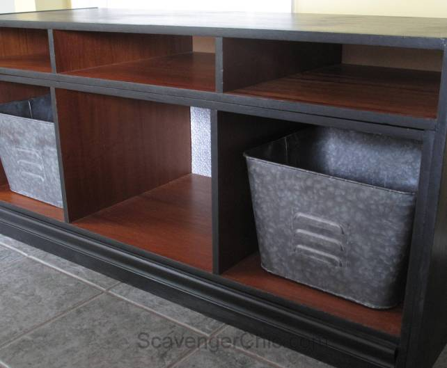 TV Stand Furniture Makeover and Veneer Repair