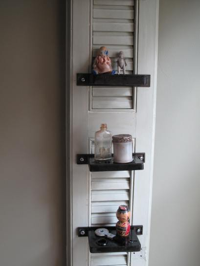 Upcycled, Recycled Mortise Lock Knick Knack Shelves