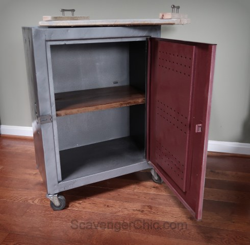Metal Industrial Cabinet Makeover