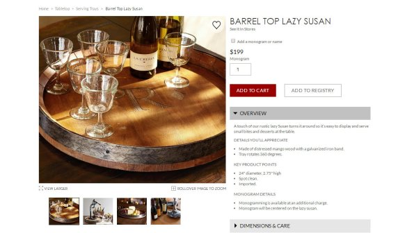 Pottery Barn Lazy Susan