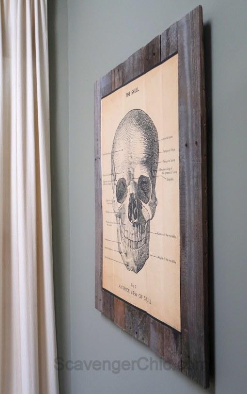 Easy Skull, Pallet Wood Halloween Decor