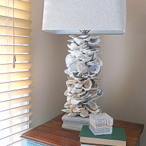 No Wiring Oyster Shell Lamp DIY