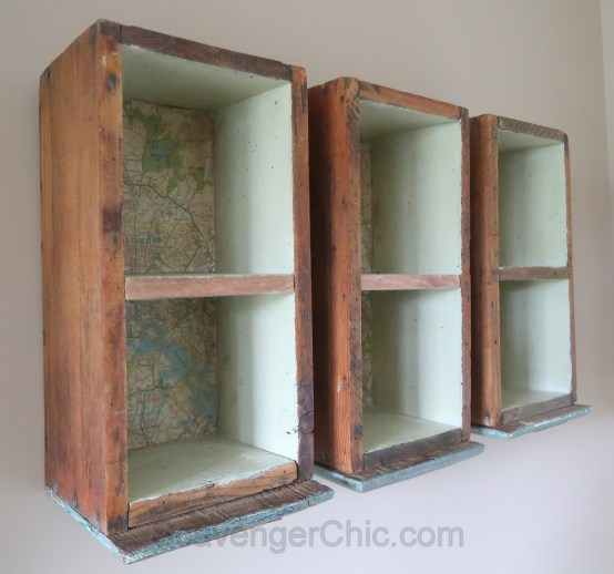 Upcycled, Recycled, Repurposed Drawer Shelves-008