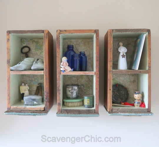 Upcycled, Recycled, Repurposed Drawer Shelves-009